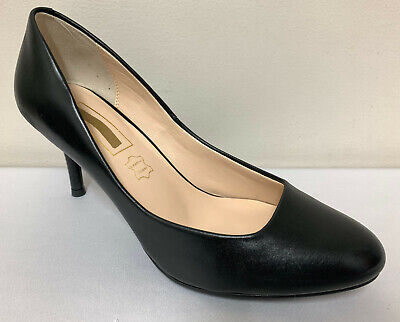 Ex M/&S Mid Heel Suede Leather Court Shoes Regular Fit Insolia Stiletto RRP £45