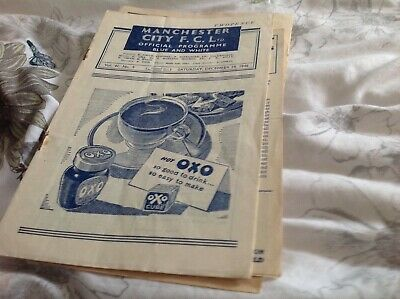 Football programme Manchester City v Barnsley 1946/47