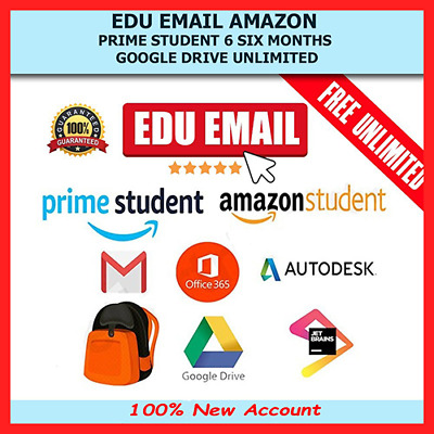 EDU Email - Amazon Prime 6 months + Unlimited Google Drive (Instant Delivery)