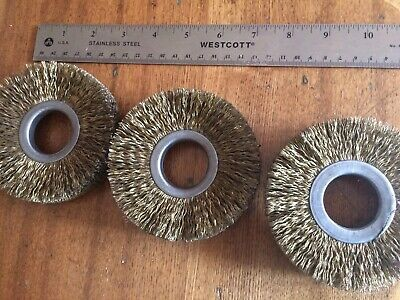 "3 Pcs 4"" Course Wire Wheel Brushes"
