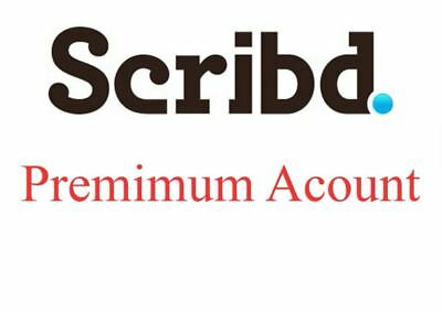 NEW Scribd Premium Account 1 Month + More Great Services Full support & Warranty