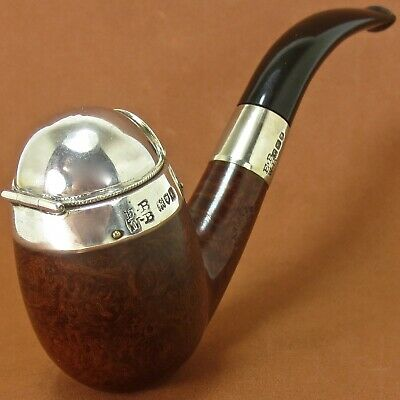 "🇬🇧🏛ENGLISH ANTIQUE PIPE: BARLING w/ ""MOTOR"" DOME WINDCAP - 1914"