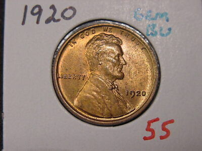 1920 Lincoln Cent Gem Bu Attractive Color With Free Shipping