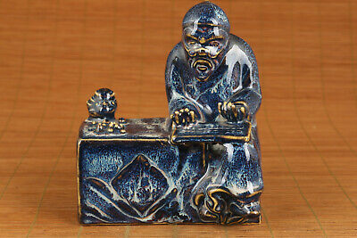 chinese jingdezhen porcelain handwork tradition culture abacus man statue