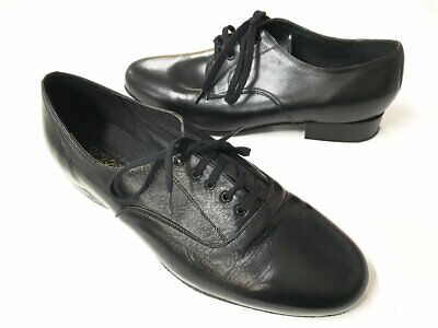Pasodoble - Men's Oxford Dance shoe - black - suede sole - 12H