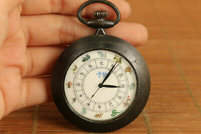 chinese copper tradition culture Mechanical Movement zodiac pocket watch netsuke