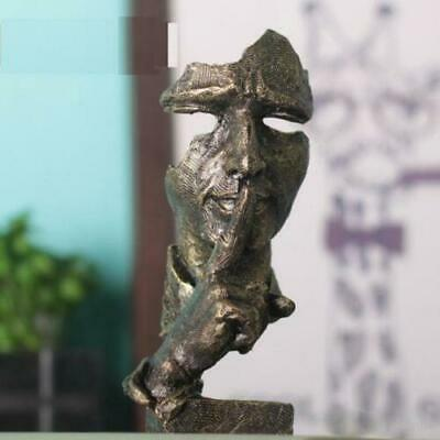 Face Sculpture Statue Abstract Modern Art Deco & free shipping.