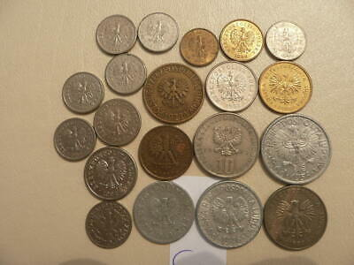 MIXED LOT 10 POLISH COINS POLAND COLLECTIBLE OLD COINS SET 1949-2015