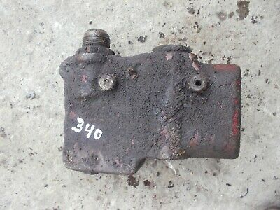 Farmall 340 RC tractor IH IHC hydraulic valve left side block mount bracket