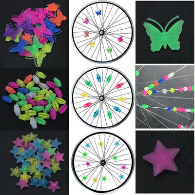 36pc Bicycle Bike Wheel Plastic Spoke Bead Children Kids Clip Colored Decoration