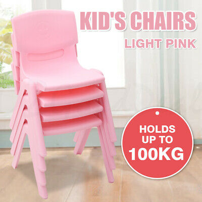 Brand New Kids Children Toddler Plastic Chair Seat Light Pink Hold Up to 100KG