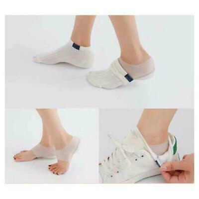 Reusable Silicone Gel Height Increase Shoe Insole Heel Insert Pads Lift up 2-4cm