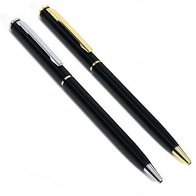 Stainless Steel Ball Point Pen Ballpoint Pocket Stationery Office Business Pens