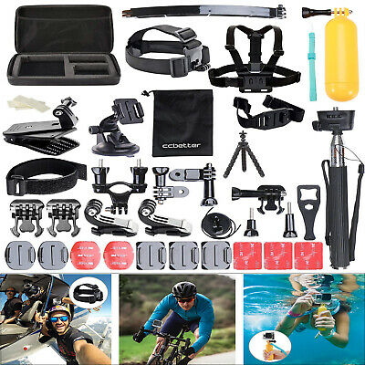Für GoPro Zubehör Set Bundle Hero6/5/4 Kamera Outdoor Sport Kit 50 in 1 Black