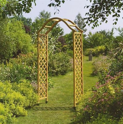 Wooden Garden Arch Timber Framed Arbour Trellis Rose Wood Plant Support Large