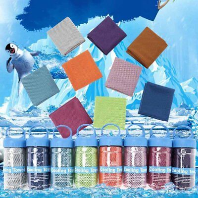 Instant Cooling Towel ICE Cold Cycling Jogging Gym Sports Outdoor UK SELL