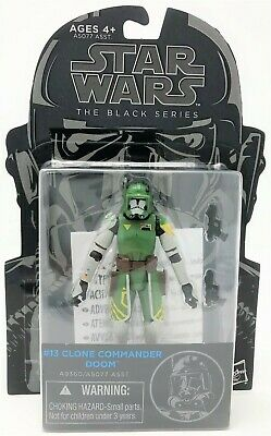 "Star Wars Black Series Clone Commander Doom 3.75"" Action Figure Toy Damaged Card"