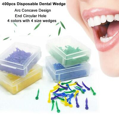 400pcs Dental Disposable Plastic Wedge With Hole 4 Sizes Wave Shape Dentist Tool