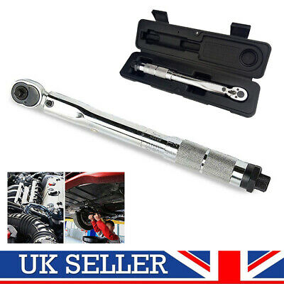 "1/4"" 5-25Nm Ratchet Torque Wrench Square Drive Click Car Hand Tools Adjustable"