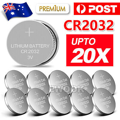 10Pcs New Cr2032 3V Lithium Cell Battery 5004Lc 2032 Br2032 Button Batteries Oz