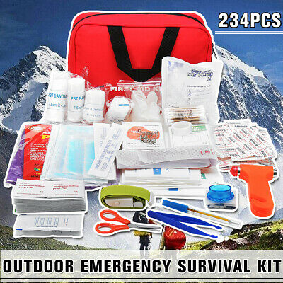 234Pcs Practical Travel First Aid Kit Outdoor Emergency Medical Survival Rescue