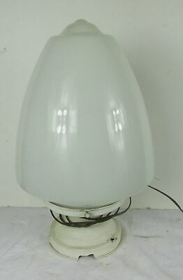 Antique  Milk Glass Shade Drape Acorn Entry Light Fixture Ceiling Globe Vtg