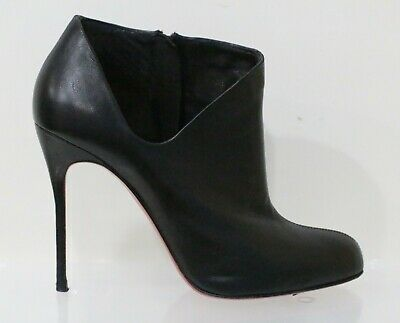 d3e00e69b16 AUTHENTIC CHRISTIAN LOUBOUTIN Lisse 100 Cutout Ankle Boots Booties ...