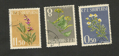 Albania-Used Set-Flora-Flowers-1961.