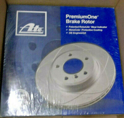 Ate CW09114 3447 PremiumOne Slotted Disc Brake Rotor Single Rotor