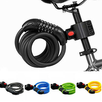 Security Steel Chain Scooter Safety 5 Digit Code Bike Accessories Bicycle Lock