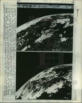 1959 Press Photo Aerial view of planet Earth from Atlas Missile in Space