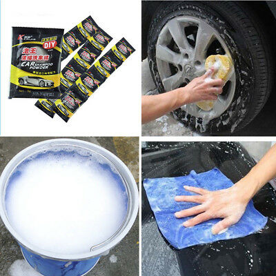 10/20pcs Car Window Glass Care Ultra-concentrated Wash Powder Solid Cleaner Foam