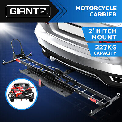 Giantz Motorcycle Carrier 2 Arms  Rack Ramp Motorbike Dirt Bike 2''Hitch Towbar