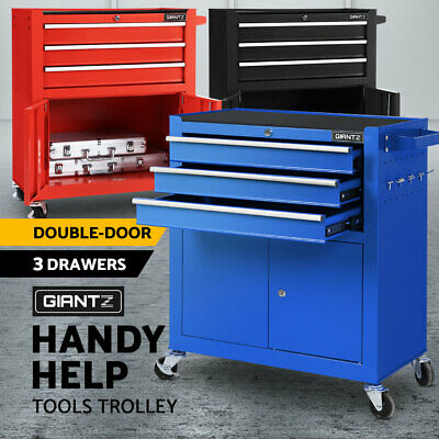 Giantz Tool Box Cabinet Trolley Toolbox Chest Cart Drawers Garage Storage