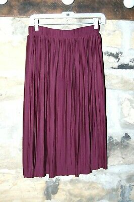 13767f716 Xhilaration Target Maroon Pleated Midi Skirt Size Medium M Sugar Plum  Purple P1