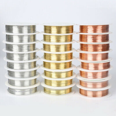 DIY Jewellery Making Findings Beading Craft Copper Metal Wire Thread String Cord