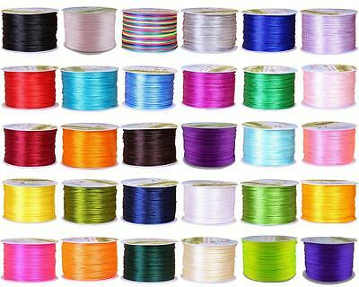 32 COLOR 1mm Nylon Satin Beading Jewellery Making Cord Shamballa Thread String