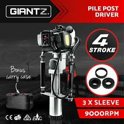 GIANTZ 4-Stroke Petrol Post Driver Rammer Power Pile Hole Drive Farm Fence