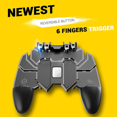 Hot For PUBG 6 Finger Latest Mobile Operating Controller Game Controller Trigger