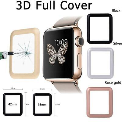 Tempered Glass Film Screen Protector 3D Full Cover For Apple Watch iWatch 38mm