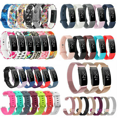 For Fitbit Inspire/Inspire HR Soft Silicone/Stainless Steel Wrist Band Strap US