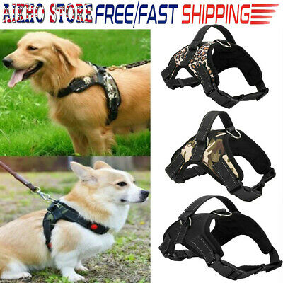 S To XL Leopard TAILUP Dog Harness Stong Leash Mesh Breathe Chest Strap Collar