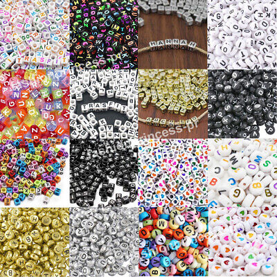 200pcs Acrylic Alphabet Letter Numbers Spacer Beads for DIY Jewelry Making