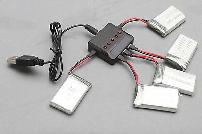 US 5 In 1 USB Cable Battery Charger for SYMA X5C/X5 X3/X4/X2 Hubsan H107D WLV977