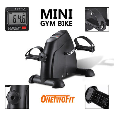 OneTwoFit Mini Pedal Stepper Bike Leg Arm Cycling Fitness Exerciser TrainerOT068