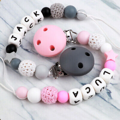 Baby Silicone Beads Teether Teething Toys Pacifier Chain Clip Bead Soother Chew