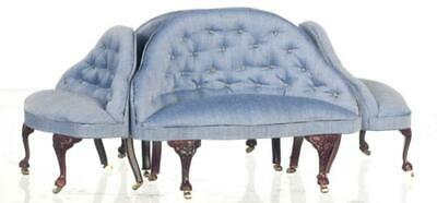 Dolls House Louis XV French Conversation Sofa Platinum Hotel Lobby Furniture
