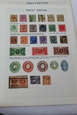 Lot Vintage Great Britain Postage Stamps - Mounted Identified - 1912-1936