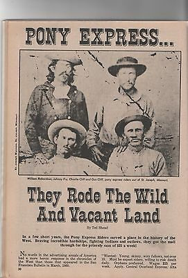 Pony Express - They Rode the Wild & Vacant Land+Butterfield*,Cliff*,Fisher*,Fry*