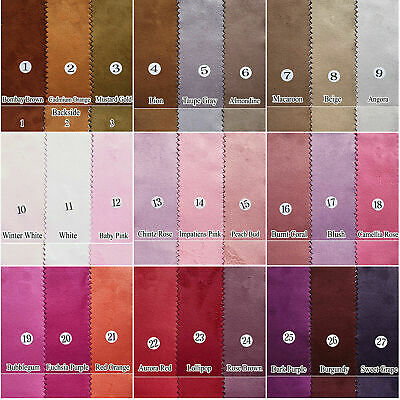 """Double Sided Polyester Faux Suede Suedette Doeskin Fabric Upholstery Craft 58""""W"""